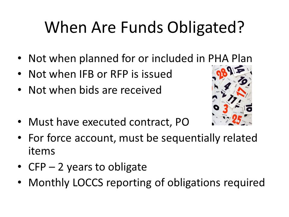 When Are Funds Obligated