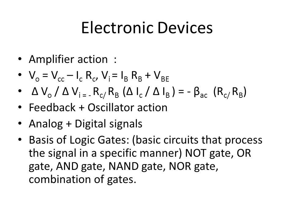 Electronic Devices Amplifier action :