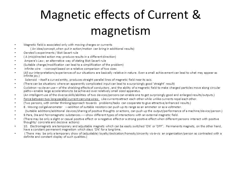 Magnetic effects of Current & magnetism