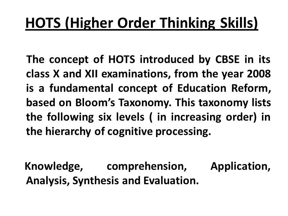 HOTS (Higher Order Thinking Skills)