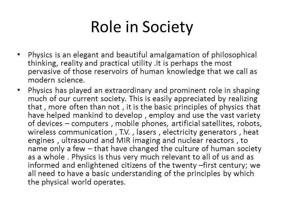 Role in Society