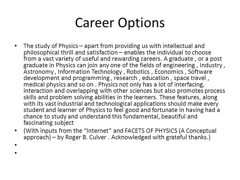 Career Options