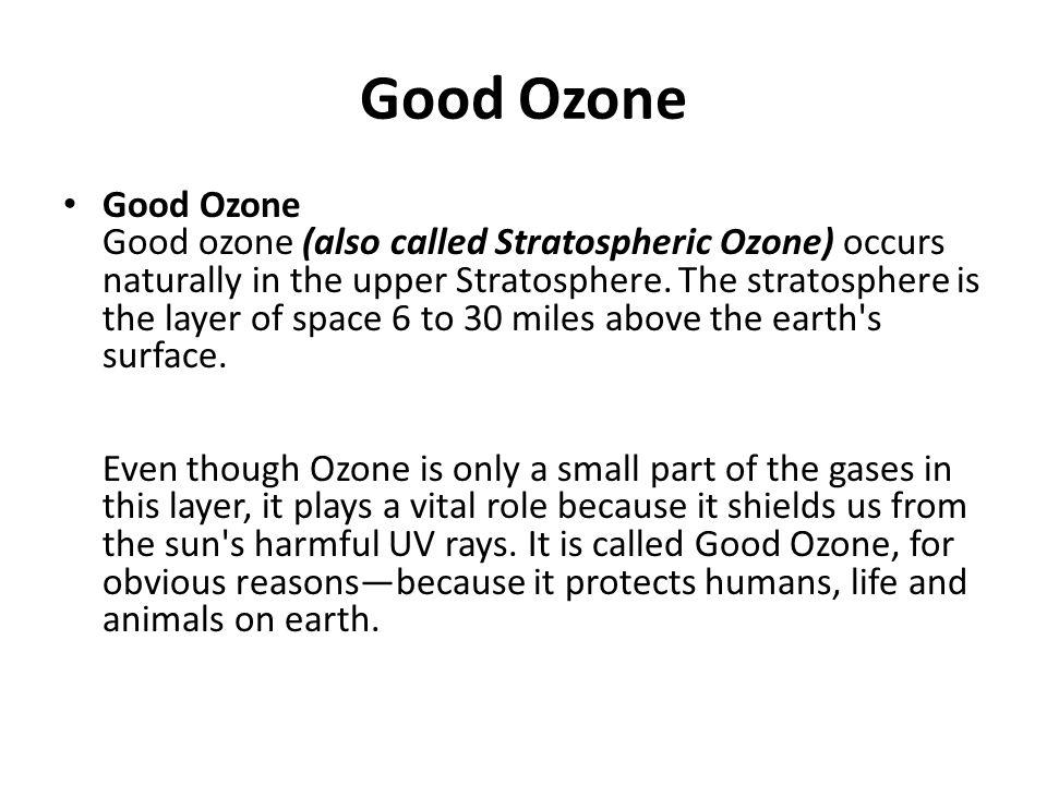 Good Ozone