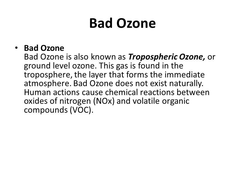 Bad Ozone