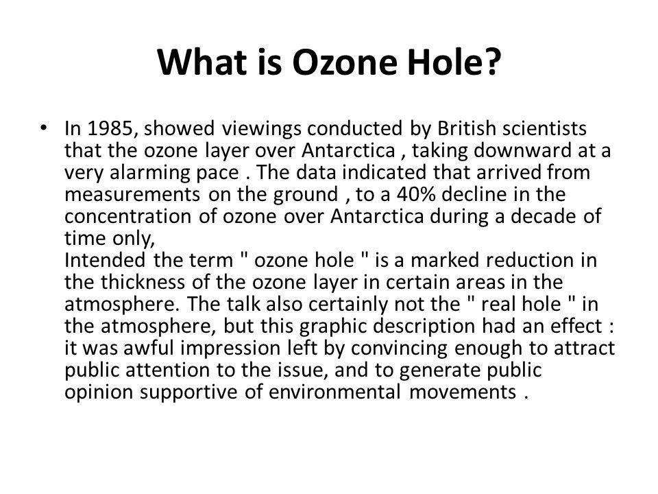 What is Ozone Hole