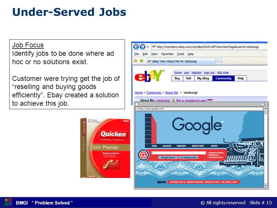 Under-Served Jobs Job Focus