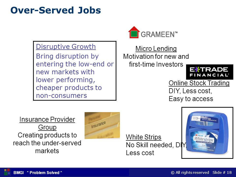 Over-Served Jobs Disruptive Growth