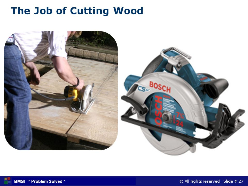 The Job of Cutting Wood