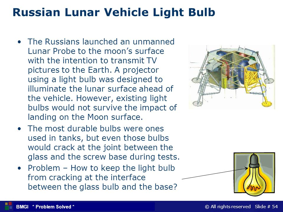 Russian Lunar Vehicle Light Bulb