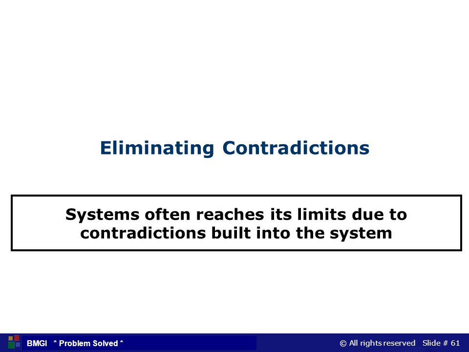 Eliminating Contradictions