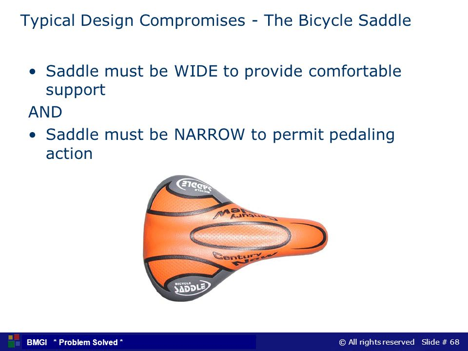 Typical Design Compromises - The Bicycle Saddle