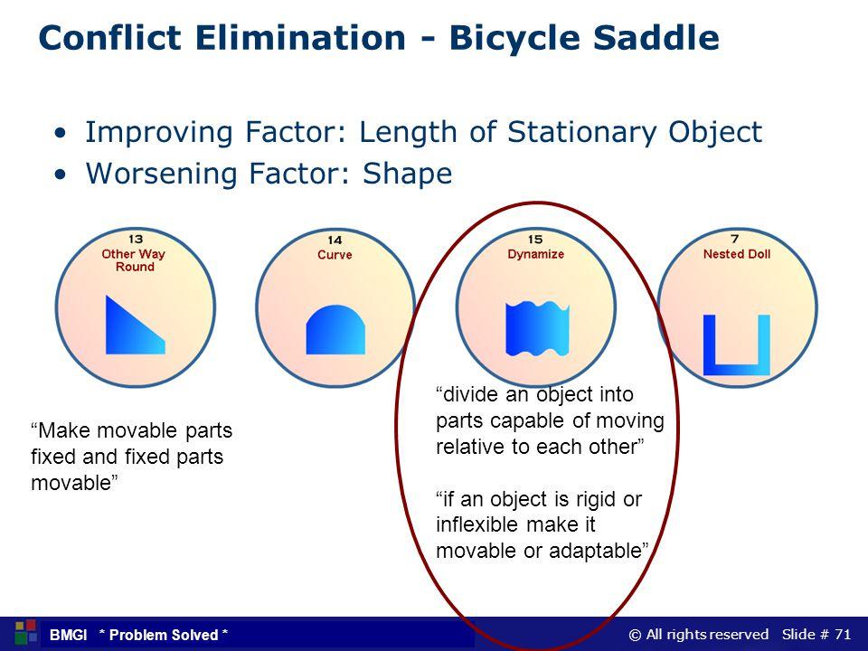 Conflict Elimination - Bicycle Saddle