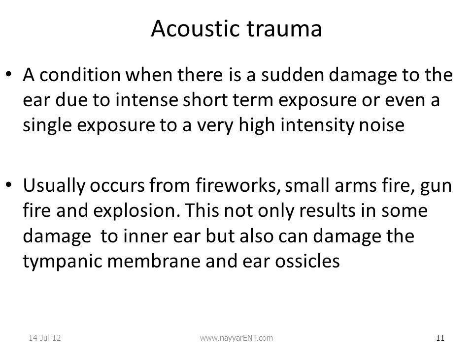 Acoustic trauma