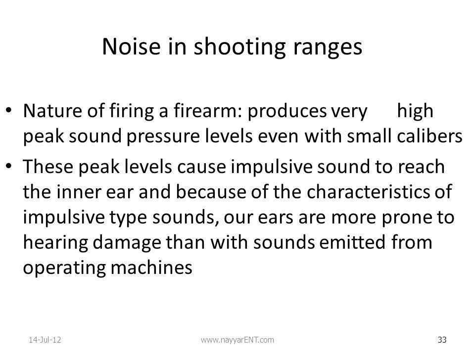 Noise in shooting ranges
