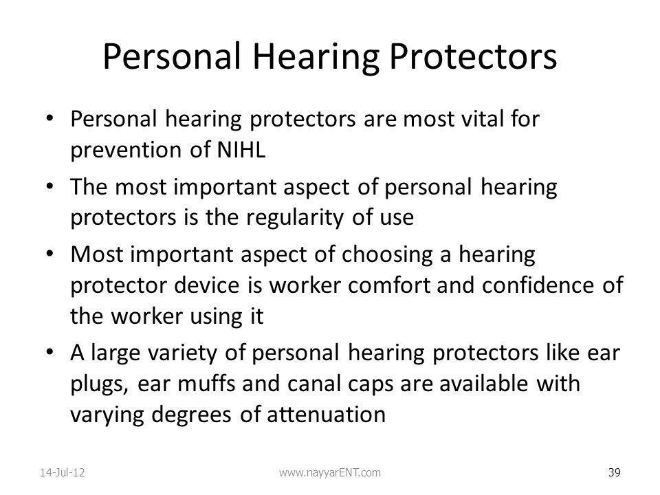 Personal Hearing Protectors