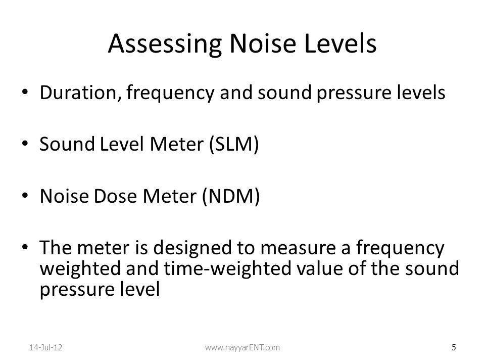 Assessing Noise Levels