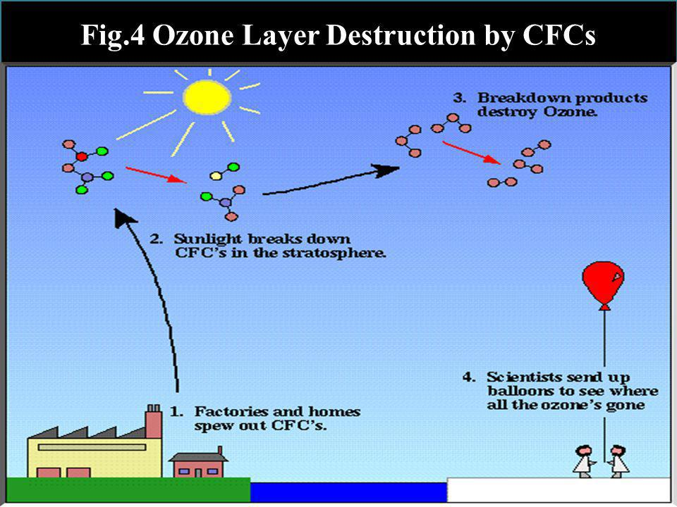 Fig.4 Ozone Layer Destruction by CFCs