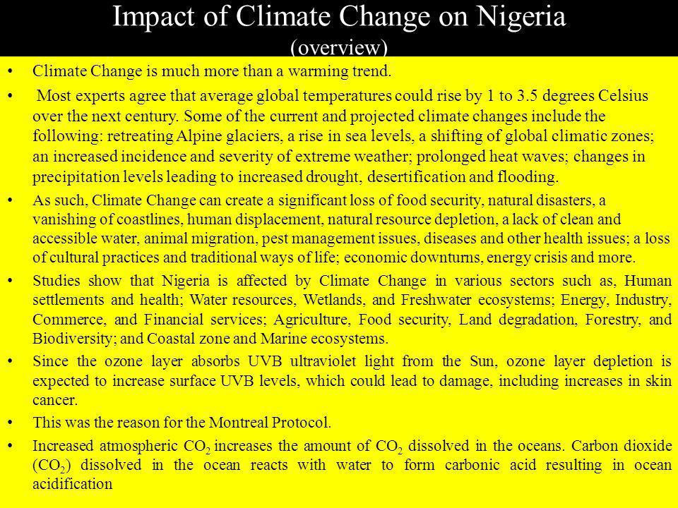 Impact of Climate Change on Nigeria (overview)