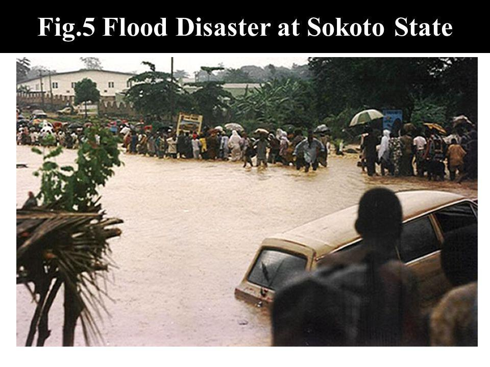 Fig.5 Flood Disaster at Sokoto State