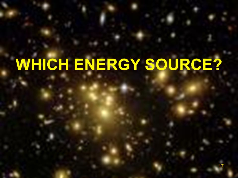 WHICH ENERGY SOURCE FIRST: the energy problem.
