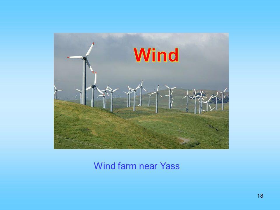 Wind Wind farm near Yass