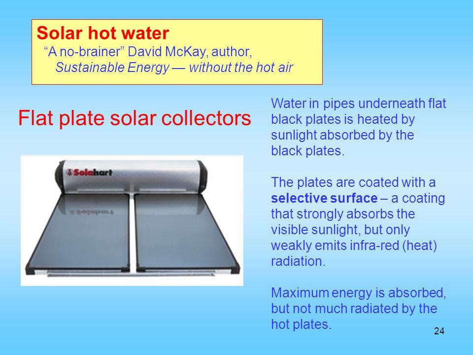 Flat plate solar collectors