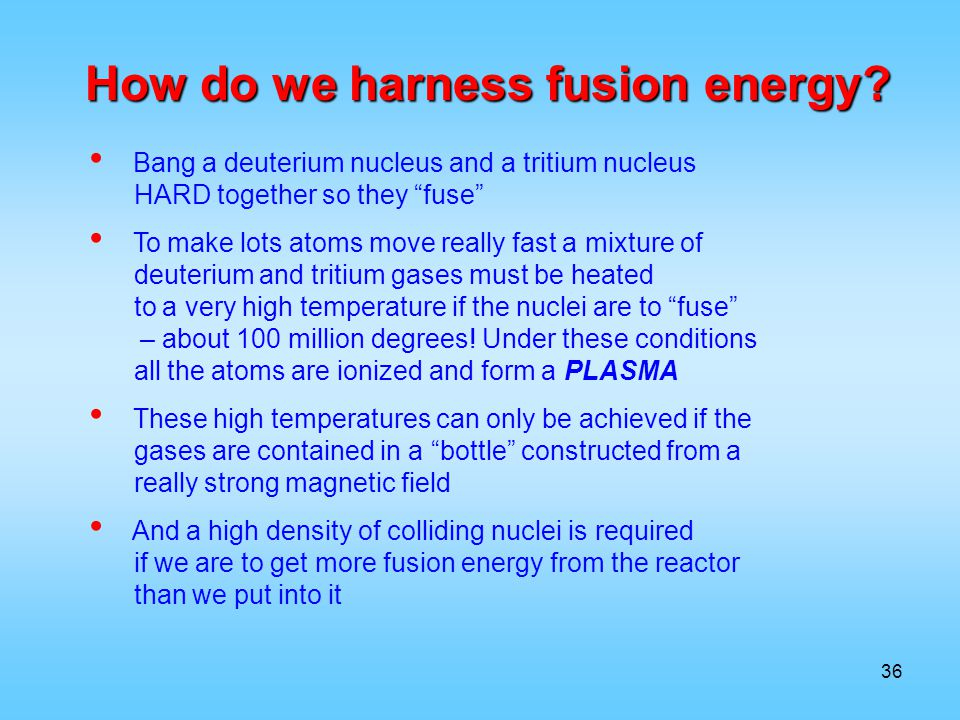 How do we harness fusion energy