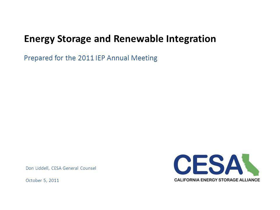 Energy Storage and Renewable Integration