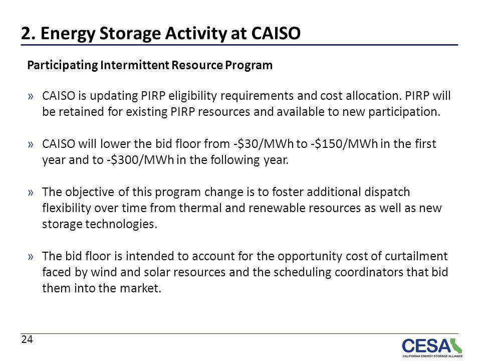 2. Energy Storage Activity at CAISO