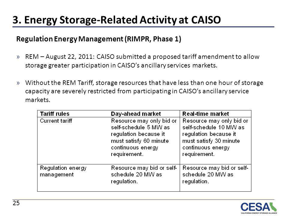 3. Energy Storage-Related Activity at CAISO