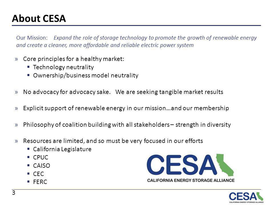 About CESA Core principles for a healthy market: Technology neutrality