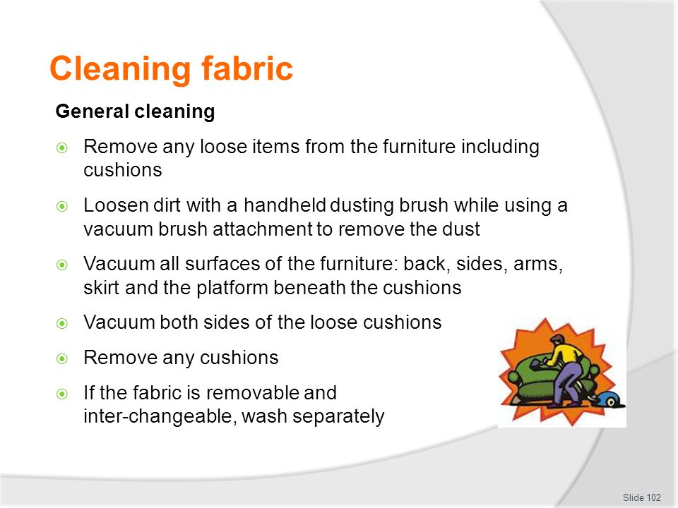 Cleaning fabric General cleaning