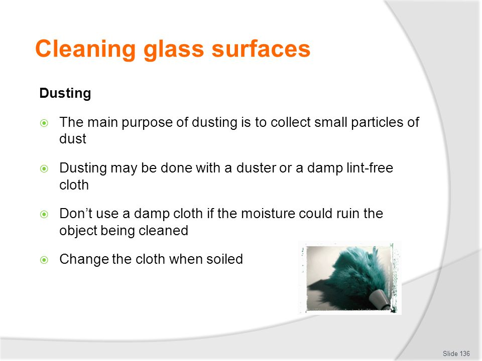 Cleaning glass surfaces