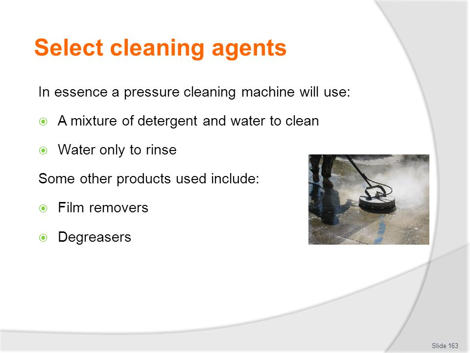 Select cleaning agents