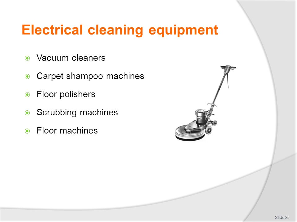 Electrical cleaning equipment