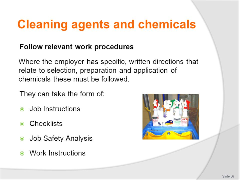 Cleaning agents and chemicals