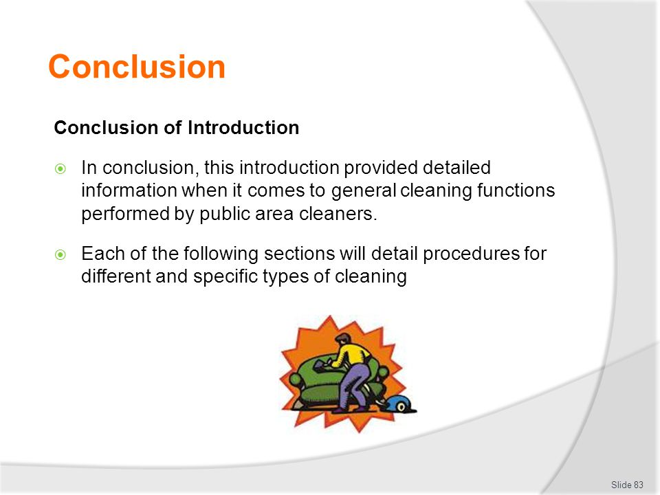Conclusion Conclusion of Introduction