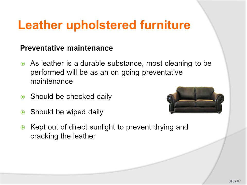 Leather upholstered furniture