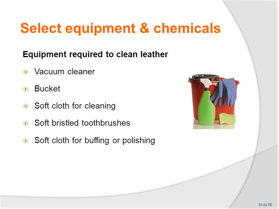 Select equipment & chemicals