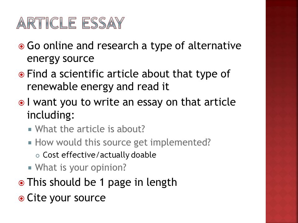 essay on alternative sources of energy How can the answer be improved.