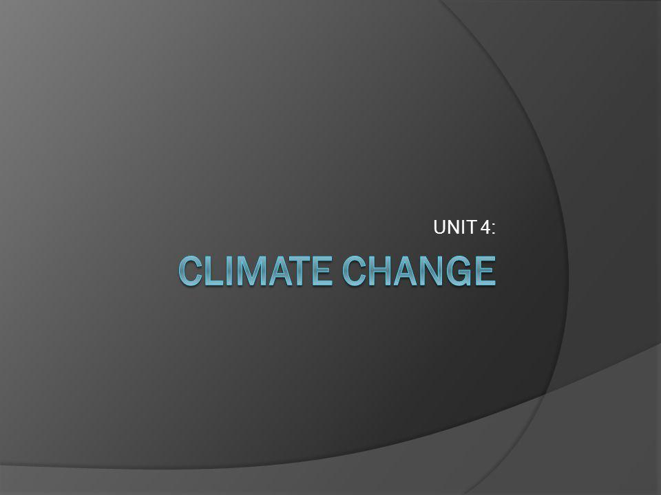 UNIT 4: CLIMATE CHANGE