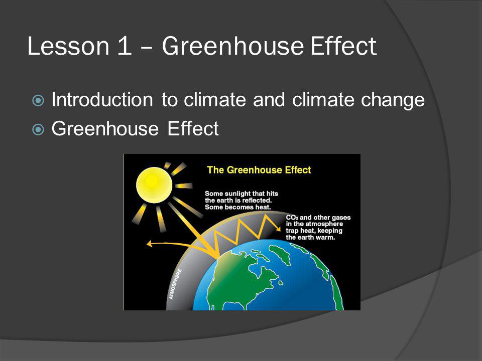 Lesson 1 – Greenhouse Effect