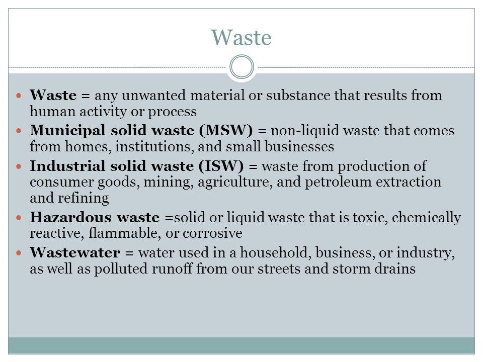 Human waste material for Waste material activity