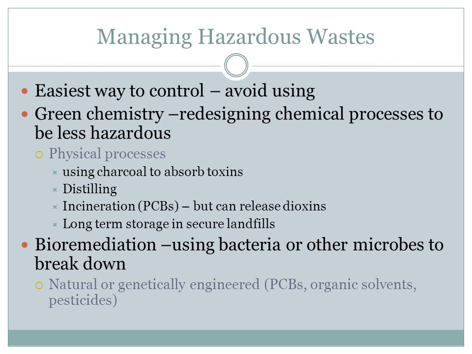 Managing Hazardous Wastes