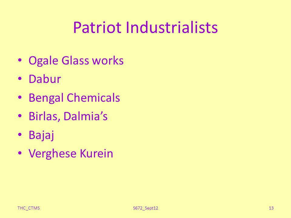 Patriot Industrialists