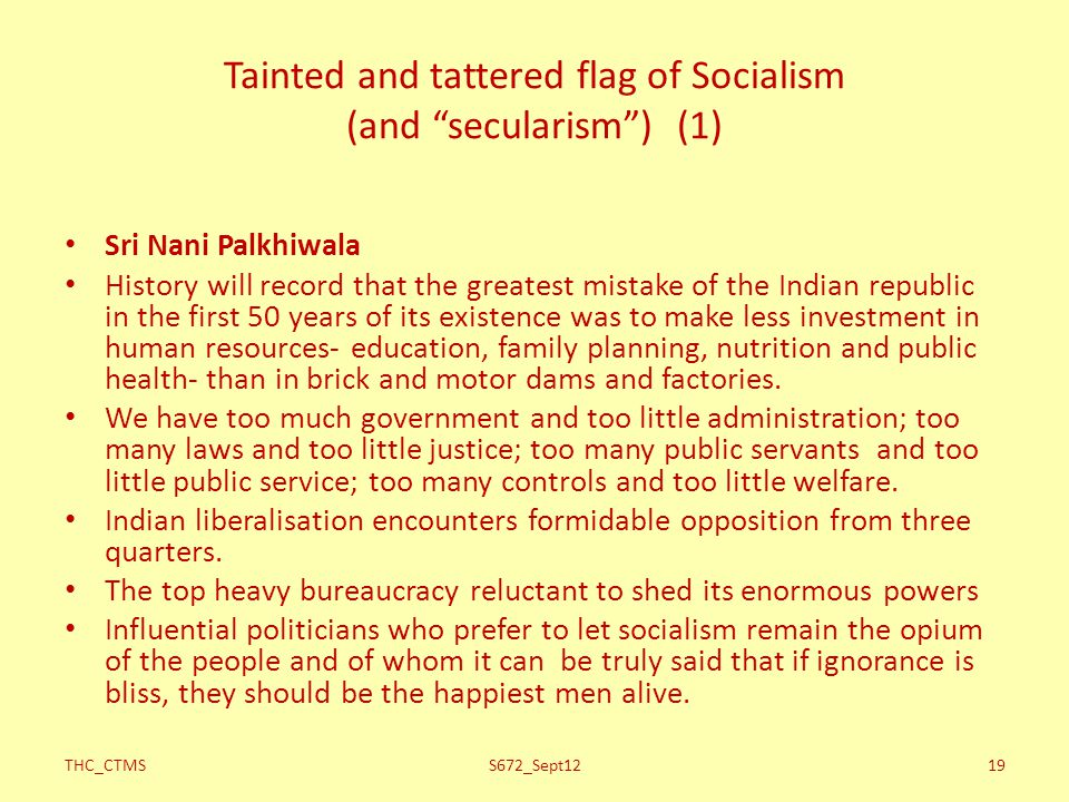 Tainted and tattered flag of Socialism (and secularism ) (1)