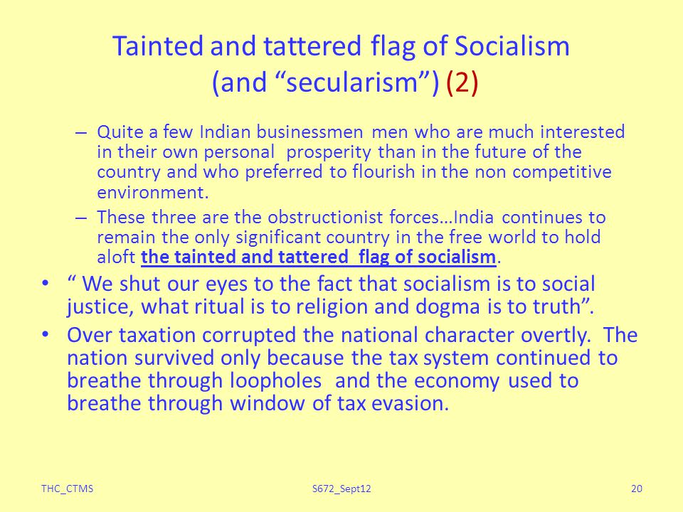 Tainted and tattered flag of Socialism (and secularism ) (2)
