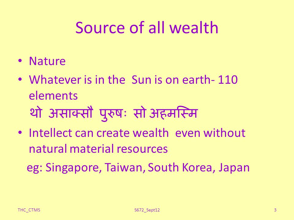 Source of all wealth Nature