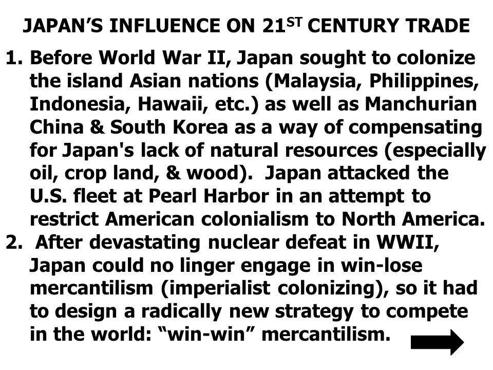 JAPAN'S INFLUENCE ON 21ST CENTURY TRADE