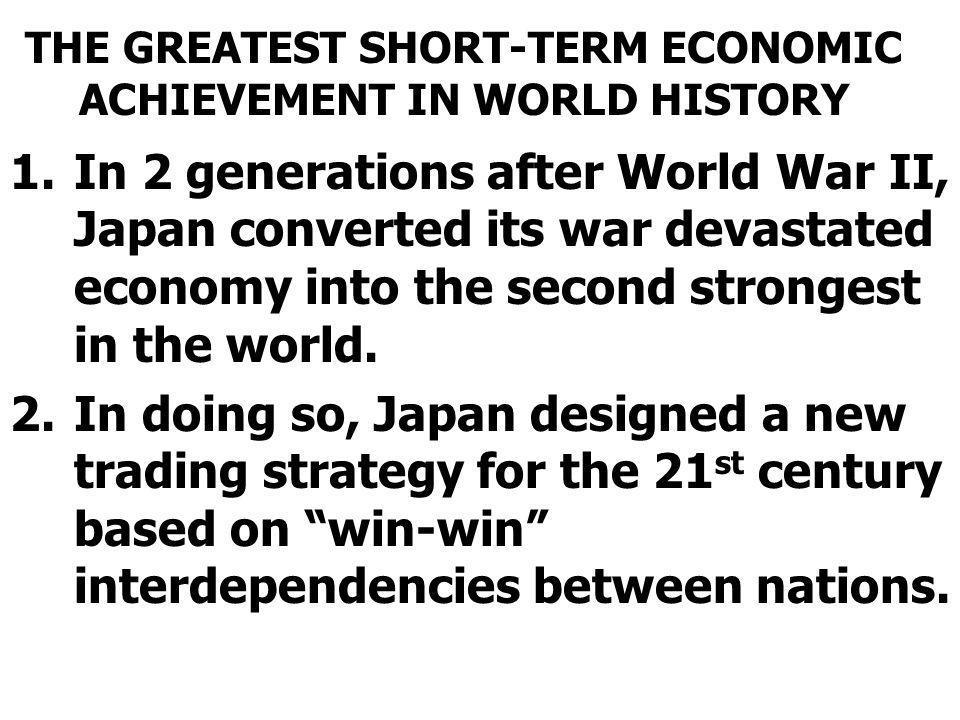 THE GREATEST SHORT-TERM ECONOMIC ACHIEVEMENT IN WORLD HISTORY